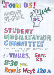 Flyer, September 23rd (Regional History Center & NIU Archives) Tags: boycott demonstration protest niu northernillinoisuniversity students activism