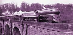 B&O Royal Blue racing the English Coronation Scot on the way from Washington to New York and the World's Fair -1939  loc 29161u (over 14 MILLION views Thanks) Tags: royalblue baltimoreandohiorailroad coronationscot british railway worldsfair 1939