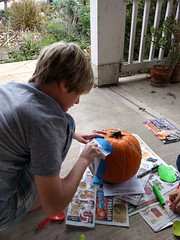 Carving (cmrowell) Tags: matthew matthew11 halloween pumpkin jackolatern frontporch california
