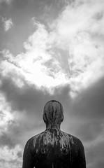Antony Gormley (B Hutchison) Tags: xt1 dundee maggies centre gormley sculpture metal man art sun light antony
