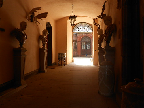 Powis Castle. The former entrance passage.