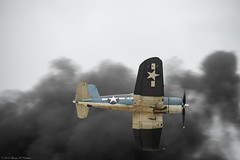 History's Voice (Fly Sandman) Tags: corsair f4u5 warbird fighter wwii ww2 carrierbased pyro explosion eaa airventure airshow oshkosh airplane aircraft vought marines navy whistlingdeath radialengine smoke
