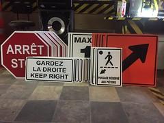 Pancartes-signalisation (mursurmesure) Tags: panneau aluminium pancarte affiche signalisation construction arret stop pieton vitesse reflectif fleche