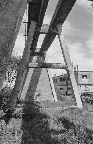 Muelle de Lota - Vieja estructura de descarga