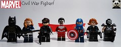 Civil War (Comics) Figbarf (Random_Panda) Tags: lego figs fig figures figure minifigs minifig minifigures minifigure purist purists character characters marvel comics superhero superheroes hero heroes super comic book books films film movie movies tv show shows television civil war captain america black panther widow winter soldier crossbones falcon the