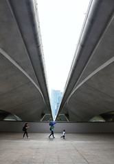 Follow me... (Br@jeshKr) Tags: brajeshart follow kid street walking flyover marinabay singapore