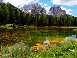 The Lake Antorno in the Belluno Dolomites