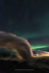 Gunnuhver (Kjartan Gumundur) Tags: iceland sland hotspring steam auroraborealis northernlights nocturne nordlys zorzapolarna polarlict reykjanes canoneos5dmarkiv tokinaatx1628mmf28profx kjartangumundur arctic photoguide ngc