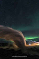 Gunnuhver (Kjartan Guðmundur) Tags: iceland ísland hotspring steam auroraborealis northernlights nocturne nordlys zorzapolarna polarlict reykjanes canoneos5dmarkiv tokinaatx1628mmf28profx kjartanguðmundur arctic photoguide ngc
