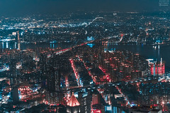 DSC_0811 (tausigmanova) Tags: panorama pano nikon d3300 manhattan new york city nyc urban skyline night nightphotoraphy world trade wtc freedomtower freedom tower oneworldobservatory longexposure