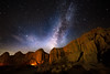 Red Rock Canyon (Muzzlehatch) Tags: redrock canyon state park california mojave desert night milky way badlands rokinon 14mm f28 red rock