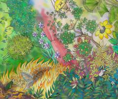 moomins_05 (Gi--Gi) Tags: moomin moomins silk batik paintingonsilk silkpainting холодныйбатик хендмейд хемуль туве янссон accessorize scarf