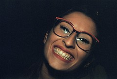 Fede (Changeover.) Tags: analog analogica yashica fx3 grana grain film story flash compleanno birthday smile