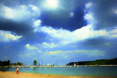 Lion's Head Beach & Marina (Explored) (ellyn=writing) Tags: lionshead georgianbay brucepeninsula lakehuron ontario txeeptopaz