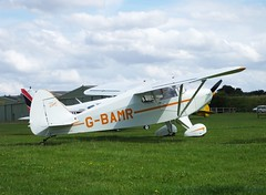 Piper PA-16 Clipper G-BAMR (Old Buck Shots) Tags: piper pa16 clipper gbamr egsv ks keith sowter