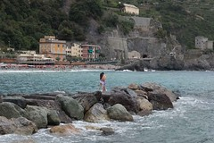 Kissing Couple Breakers Cinque Terre Italy Mediterranean Sea Monterosso al Mare 2015 Europe Trip August 15, 2015 133 (stevendepolo) Tags: italy couple suits mediterranean cinqueterre bathing posingforphoto mediterraneansea selfie monterossoalmare 2015europetrip 201europetrip