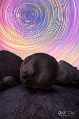 Big Balls (Kiall Frost) Tags: blue red orange colour yellow rock night stars purple stack startrails kiallfrost longexpsores