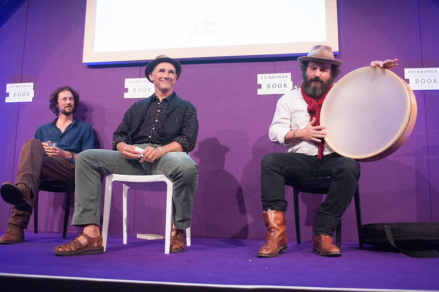 Paul Kingsnorth (left), Mark Rylance (centre) and Martin Shaw (right)