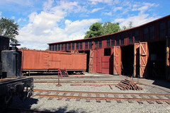 Roundhouse & Boxcar (California Will) Tags: california ca trains sierra jamestown roundhouse statehistoricpark railtown1897