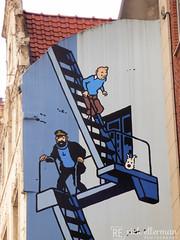 Tintin, Snowy and Captain Haddock (Rick Ellerman) Tags: brussels graffiti mural europa europe european grafitti belgium grafiti snowy euro tintin corel herge captainhaddock corelpaintshopprox7 coralpaintshopprox7