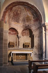 Byzantine Frescoes (haberlea) Tags: france church cathedral chapel medieval byzantine auvergne frescoes