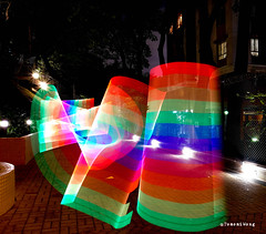 Rainbow light painting (TomoB Wong) Tags: light lightpainting color night painting hongkong rainbow nightshot dancing fujifilm colourful xt1 flickrhongkong flickrhkma