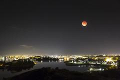 Lunar Eclipse over Stavanger (Drosophi|a) Tags: norway night eclipse stavanger september astronomy total lunar bloodmoon 2015