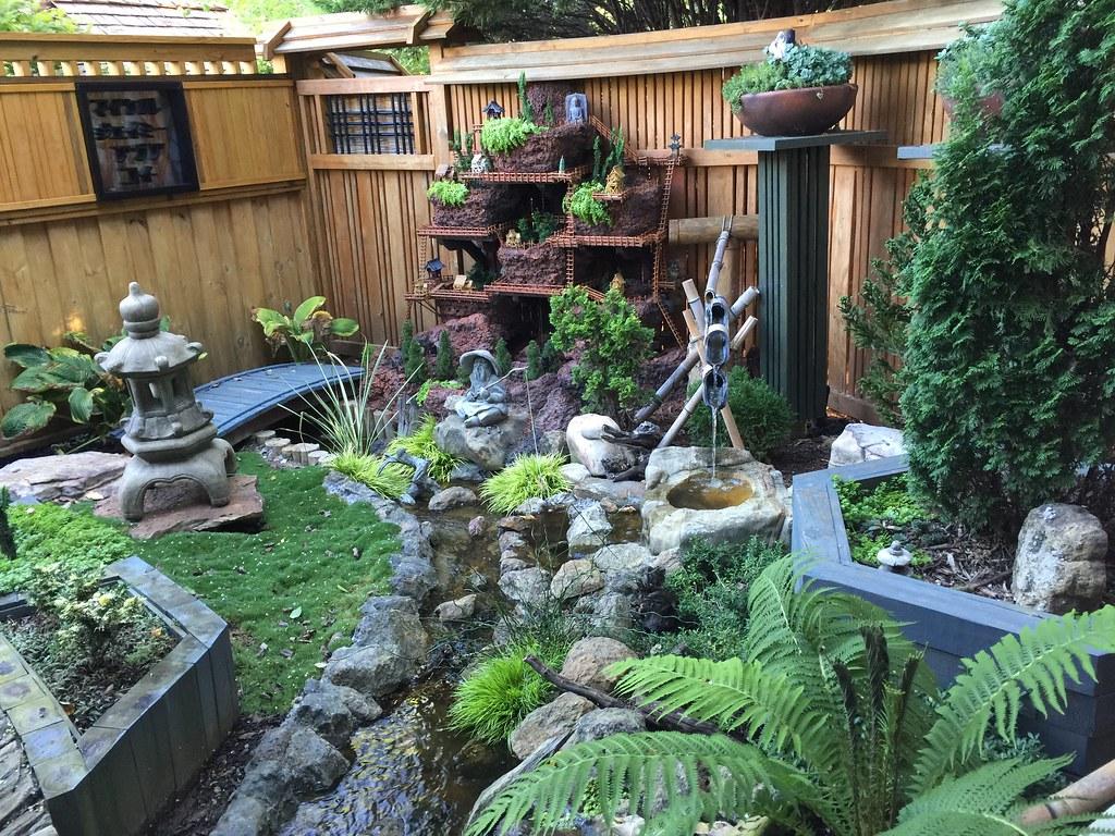 Asian Garden (My DIY Garden) Tags: Bridge Rock Vertical Asian Japanese  Miniature Diy