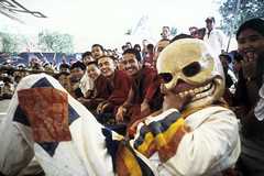 Smile of the Death Clown, Tibetan Death Clown, Tibetan Refugee Camp, Southern India