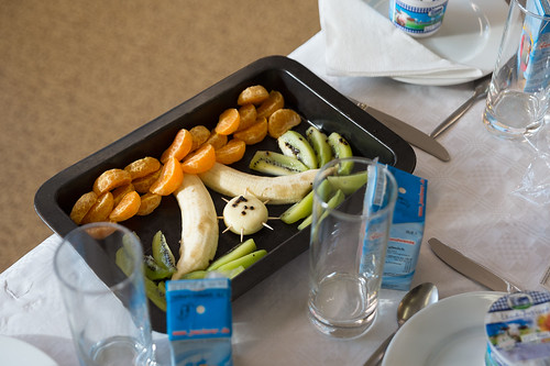 Tafel in einem Klassenzimmer bei der Health Week – Tag der gesunden Ernährung Foto: Ole Bader