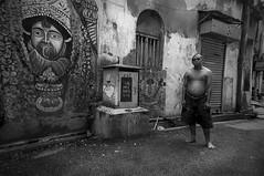 Lost (Binoy Bhushan) Tags: street bw kolkata kalighat