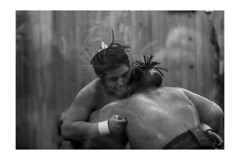 Sumo fight (Fekete Nndor) Tags: white black ass monochrome japan tokyo big fight dirty sweat sumo nihonbashihamacho