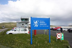Flying to the Isle of Barra (frolair) Tags: scotland airport glasgow atlanticocean airstrip turboprop gla airfield brr aerodrome loganair castlebay twinotter 696 flybe isleofbarra dehavillandcanada dhc6 twinengined gbzfp passengerflight egpr outerhebrids