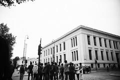 (bendikjohan) Tags: life street city people urban bw white black tourism oslo norway architecture blw university exterior bnw bl