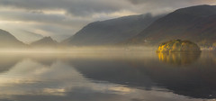 Mystical Magic (Vemsteroo) Tags: morning travel autumn light panorama mist mountains nature water beautiful fog sunrise canon still derwent lakedistrict cumbria fells serenity ethereal 5d mystical derwentwater thelakes 70200mm mkiii circularpolariser leefilters visitbritain lovegreatbritiain