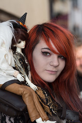 Puppets (cowboy72) Tags: ladies red people beauty goth whitby northyorkshire wgw whitbygothweekend