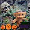 Spooky Succulent Troll (Sarah B in SD) Tags: cute fall halloween toys succulent sandiego pumpkins creative brain retro spooky sanmarcos arrangement succulents csusm trolldoll lithop upcycle succulove sarahssocalsucculents