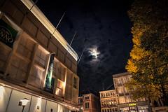Moonlight Shadows... (Gilderic Photography) Tags: city autumn sky moon tree night clouds lune automne lumix belgium belgique belgie panasonic ciel nuages liege nuit arbre ville gilderic lx3 dmclx3