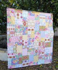 56x64 Nostalgia Throw (sewfunbymonique) Tags: pastel nostalgia patchwork jenniferpaganelli