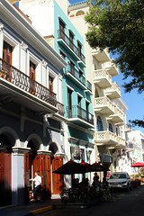Old Town San Juan (Prayitno / Thank you for (11 millions +) views) Tags: old building classic architecture relax puerto town cafe san afternoon juan time tea outdoor down rico architect pr caribbean sju konomark