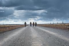 team on bikes