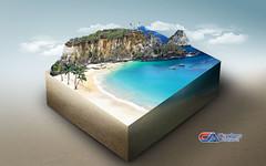 Carlos Atelier2 - O Paraso (Carlos Atelier2) Tags: carlos atelier2 paraso mar ilha azul montanhas natureza arte design manipulao photoshop