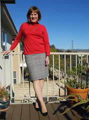 glennplaiddeck (krislagreen) Tags: tv pumps cd skirt hose tgirl transgender transvestite crossdress tg stilettos patent feminization pencilskirt tneck feminized