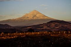 Popocatepetl (Mauriciove00) Tags: mxico atardecer cultivos popocatepetl montaas morelos popo volcanes dongoyo airelibre yecapixtla cielonubes