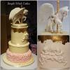 Christening Cake (Simple Wish Cakes) Tags: pink baby cake pegasus ivory christeningcake 3tiers 24carrotgold