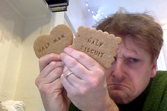 all I wanted for Christmas was a Dukla Prague away kit (gilesbooth) Tags: photobooth gingerbread biscuit halfmanhalfbiscuit halfman halfbiscuit