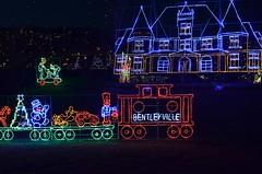 Christmas Glensheen & Train (AZSunsets) Tags: christmas railroad holiday minnesota night train lights amusement noel mansion duluth glensheen bentleyville christmasdisplays jmsphotography
