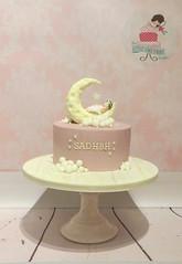 Pink Moon and Stars Christening Cake (littlecakefairydublin) Tags: pink baby cake model sugar christening fondant nurseryrhyme moonandstars twinkletwinklelittlestar