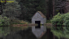 Boathouse. (northernkite) Tags: lochan north east scotland suie hill kennethmont water bushes trees wood outdoors tudor design