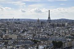 Torre Eiffel y Los Invlidos desde Notre-Dame (CarlosJ.R) Tags: eiffel francia losinvlidos notredame pars torreeiffel